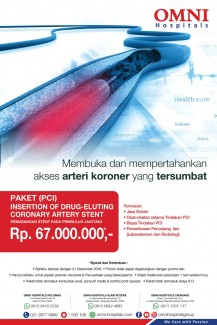Paket (PCI) Insertion of Drug-Eluting Coronary Artery Stent - OMNI Hospitals